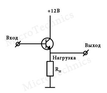 Схема эмиттерного повторителя