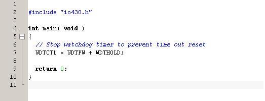 Пустая функция main()