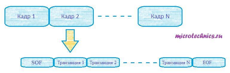 Интерфейс USB, структура данных.