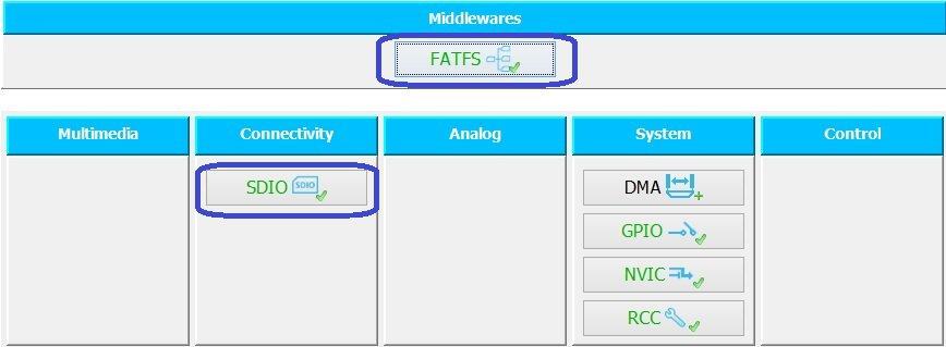Использование FatFs в STM32Cube
