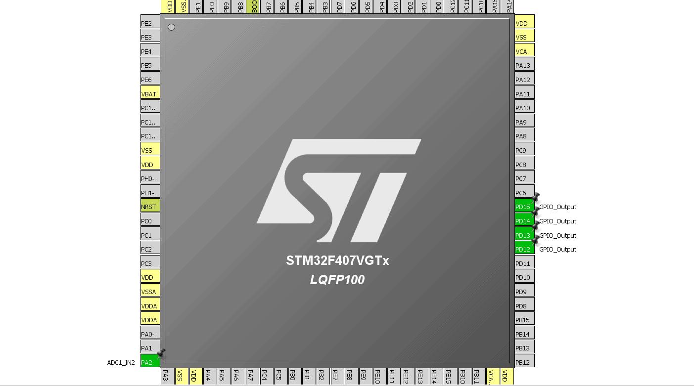 Настройка АЦП в STM32Cube