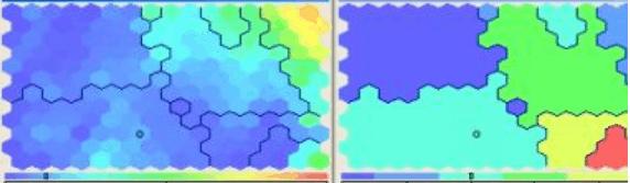 Пример карт Кохонена