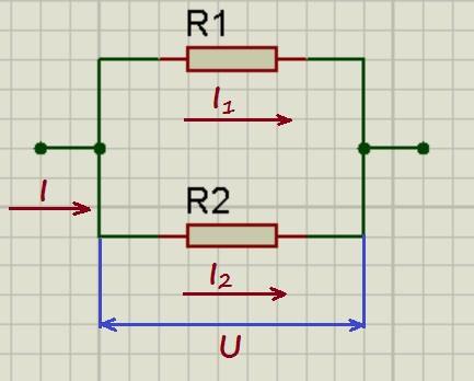 Параллельное соединение резисторов.
