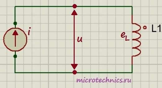 Катушка индуктивности в цепи переменного тока