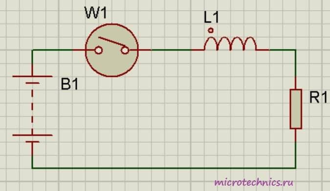 Катушка индуктивности в цепи постоянного тока
