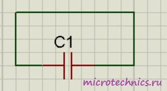Схема разрядки конденстора