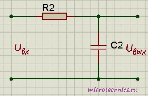 Интегрирующая RC-цепь