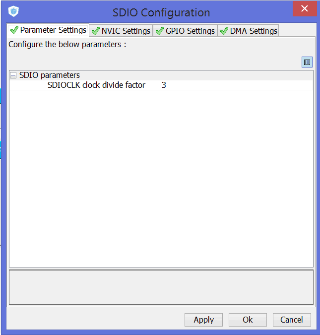 STM32Cube SDIO settings