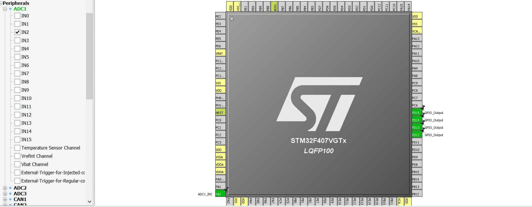 STM32 ADC configuration