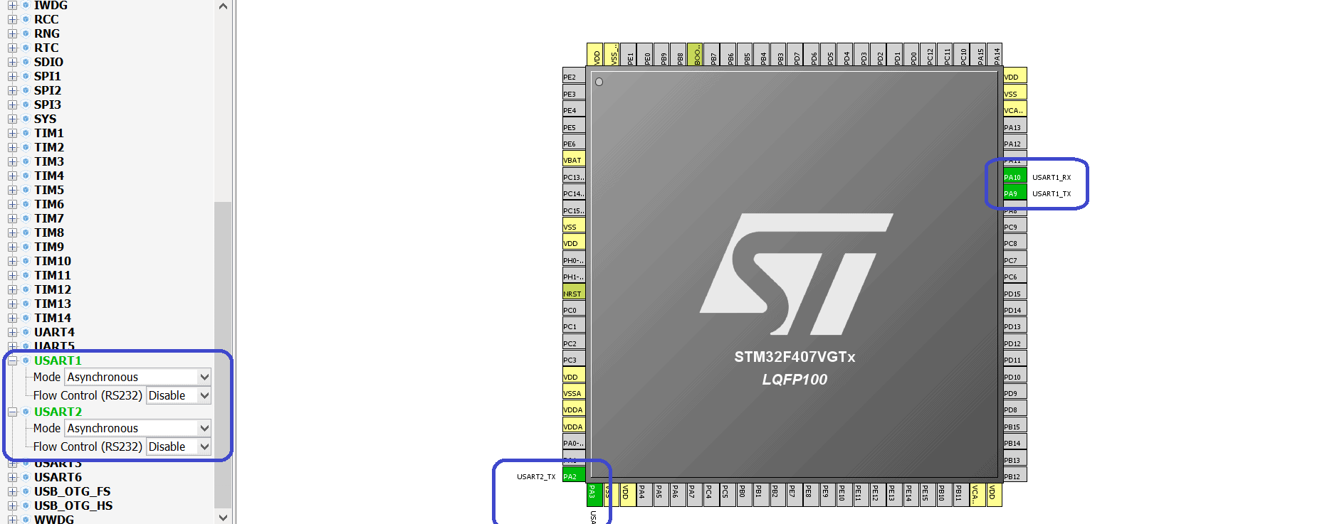 STM32Cube  Using the STM32 USART interface  | MicroTechnics