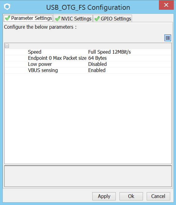 USB_FS_OTG settings