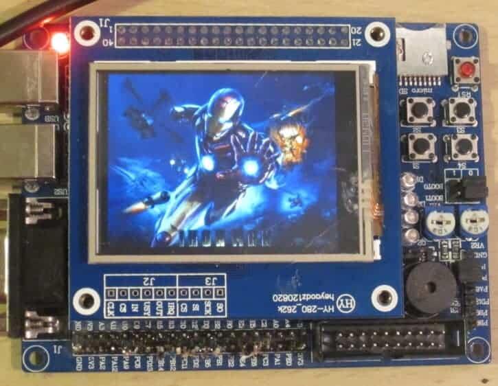 Вывод изображения на дисплей при помощи STM32.