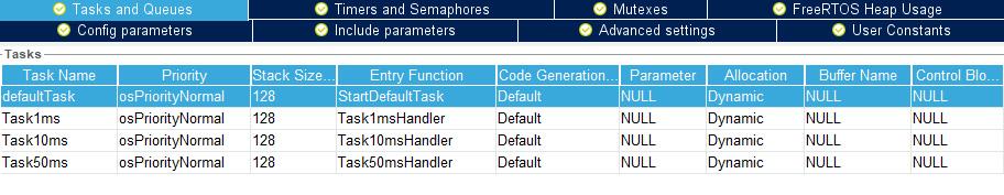 Задачи FreeRTOS для микроконтроллера STM32.