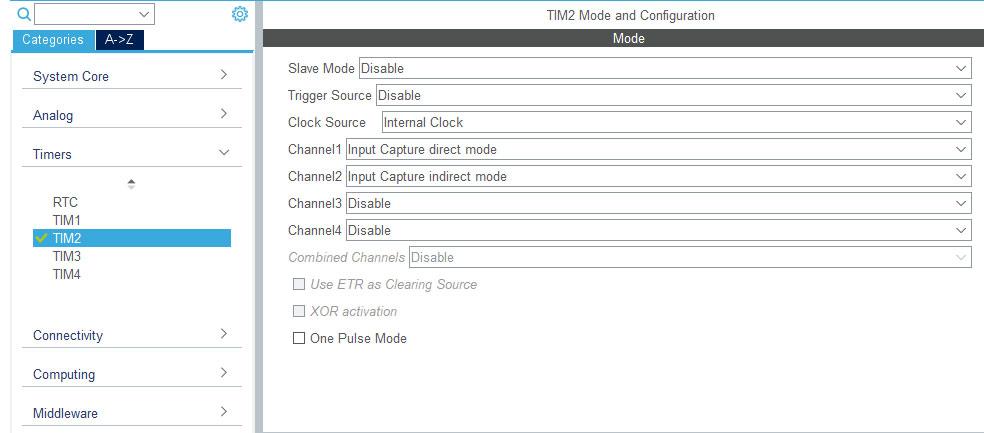 STM32CubeMx режим захвата сигнала.