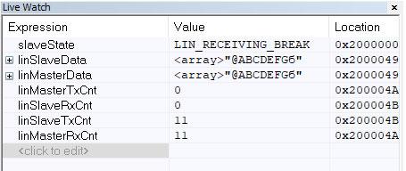 Программа для приема по интерфейсу LIN.