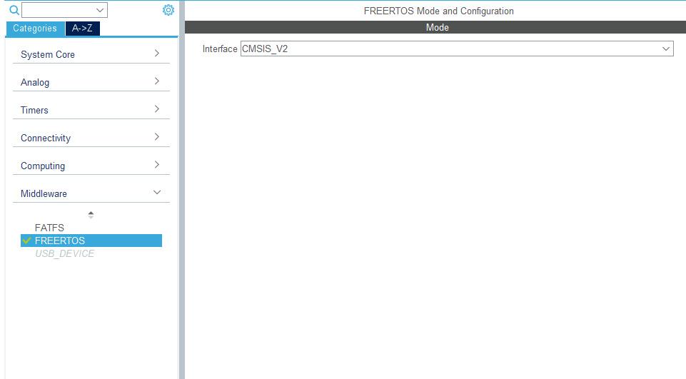 Использование FreeRTOS в STM32CubeMx.