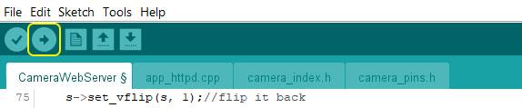 Arduino IDE upload.
