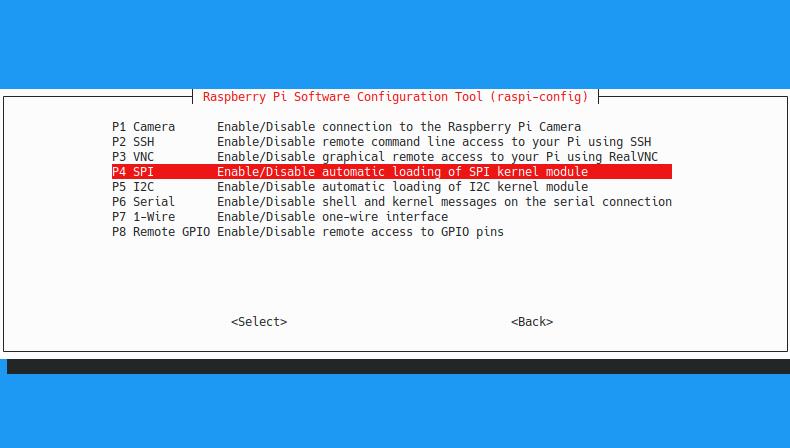 Raspberry Pi включение SPI