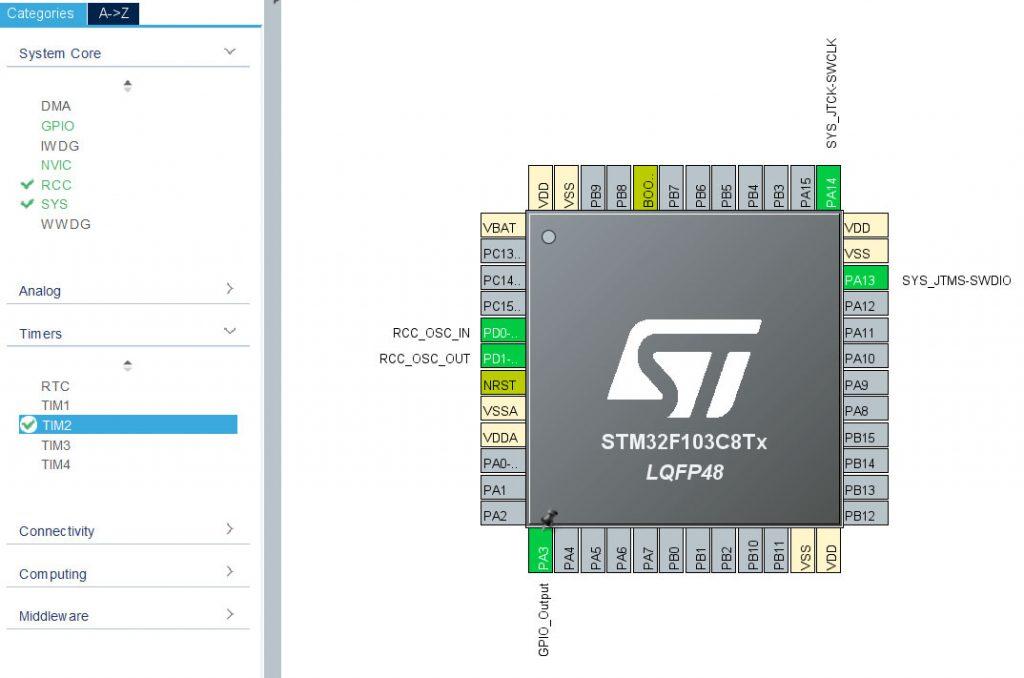 Настройка STM32 для работы с манчестерским кодом